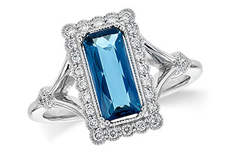 A199-78352: LDS RG 1.58 LONDON BLUE TOPAZ 1.75 TGW