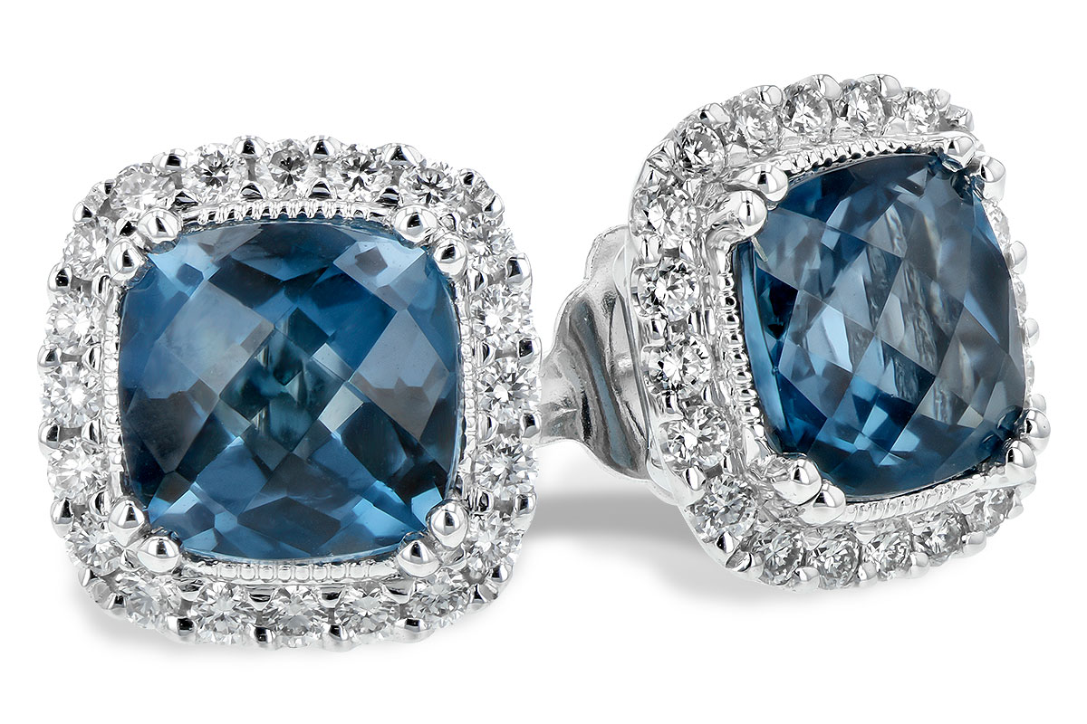 B198-82843: EARR 2.14 LONDON BLUE TOPAZ 2.40 TGW