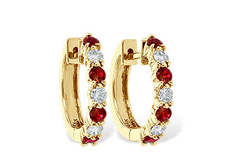 C010-66479: EARRINGS .64 RUBY 1.05 TGW