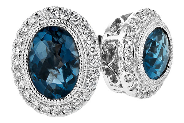 C198-82834: EARR 1.76 LONDON BLUE TOPAZ 2.01 TGW