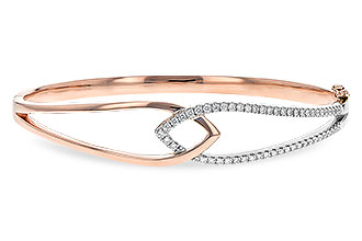 D198-89261: BANGLE BRACELET .50 TW (ROSE & WG)
