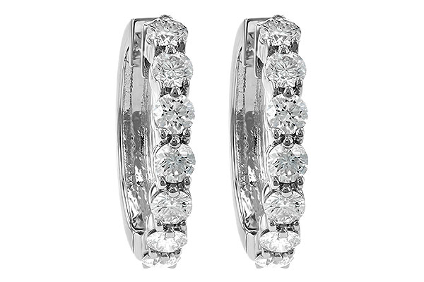 G195-21024: EARRINGS 2 CT TW