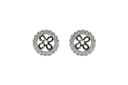 G197-03743: EARRING JACKETS .24 TW (FOR 0.75-1.00 CT TW STUDS)