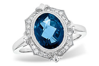 G199-80106: LDS RG 3.00 LONDON BLUE TOPAZ 3.16 TGW