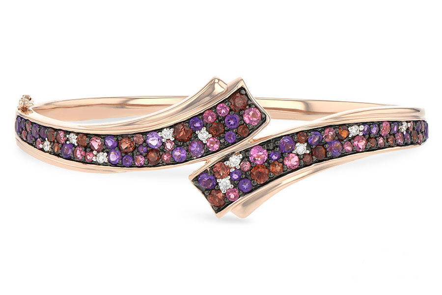 H197-97415: BANGLE 3.12 MULTI-COLOR 3.30 TGW (AMY,GT,PT)