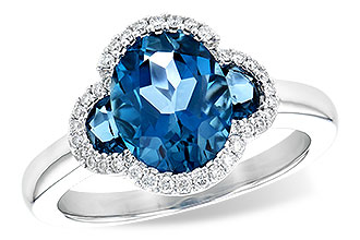 H199-78333: LDS RG 3.04 TW LONDON BLUE TOPAZ 3.20 TGW