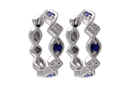 L010-63733: EARRINGS .20 SAPP .25 TGW