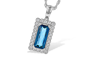 M199-80106: NECK 1.55 LONDON BLUE TOPAZ 1.70 TGW