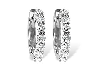 B010-66470: EARRINGS 1.00 CT TW