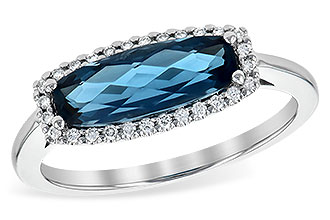C199-77443: LDS RG 1.79 LONDON BLUE TOPAZ 1.90 TGW
