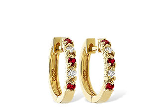 E010-66479: EARRINGS .17 RUBY .26 TGW