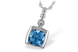 F198-86497: NECK 1.45 BLUE TOPAZ 1.49 TGW